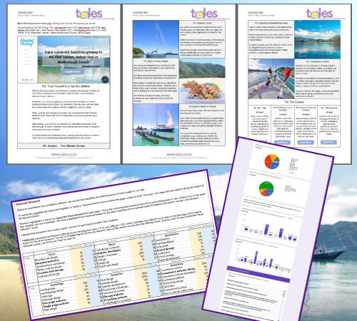 Gourmet Sailing Draft Website Copywriting And Research Pages