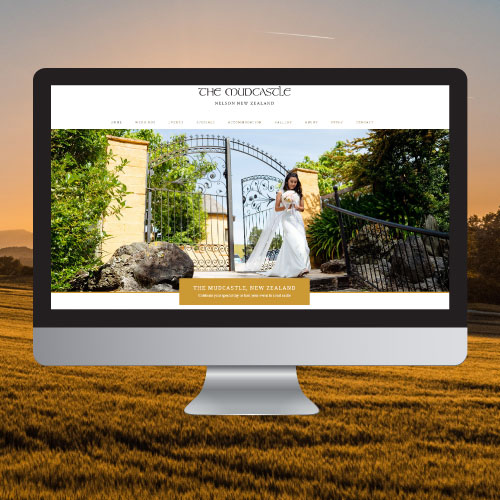 website copywriting portfolio image for the mudcastle