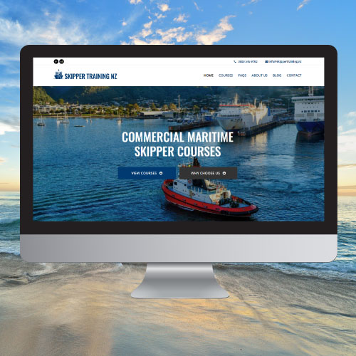 Website Copywriting Portfolio Entry For Skippertraining
